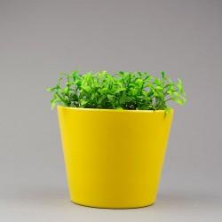 Obal na květináč - Malý, Žlutý