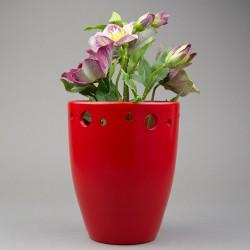 Obal na květináč - červený