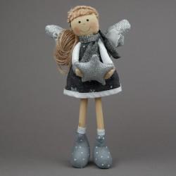 Anděl textilní s hvězdou...