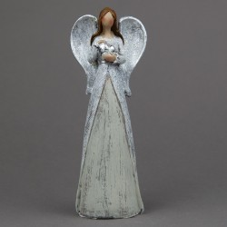 Anděl se srdcem stříbrný