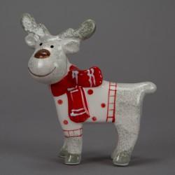 Jelen v šalé vánoční figurka