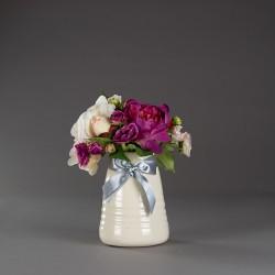 Váza keramická, bílá s...