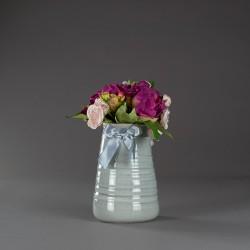 Váza keramická, šedá s...