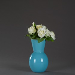 Kulatá keramicka vazá modrá